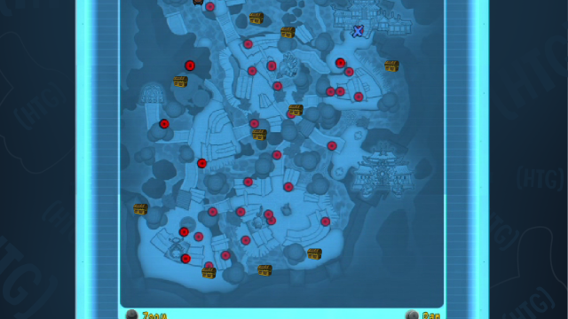Sly Cooper Thieves in Time Episode 1 – All Treasure Locations Map