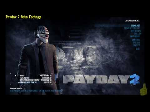 Payday 2 Beta: First Look (Skills, Inventory and Safehouse) – HTG