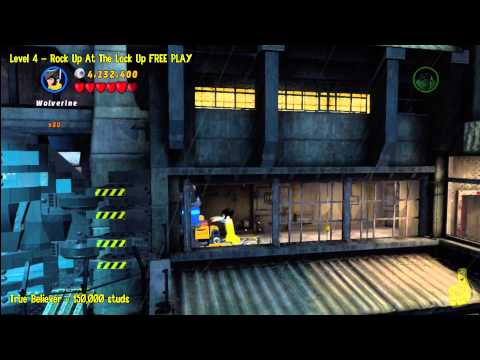 Lego Marvel Super Heroes: Lvl 4 Rock Up At The Lock Up – FREE PLAY (Minikits & Stan In Peril) – HTG