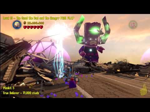 Lego Marvel Super Heroes: Lvl15 The Good The Bad & the Hungry- FREE PLAY(Minikits & Stan Lee)- HTG