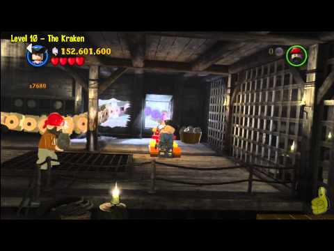 Lego Pirates of the Caribbean: Level 10 The Kraken – FREE PLAY (Minikits and Compass Items) – HTG