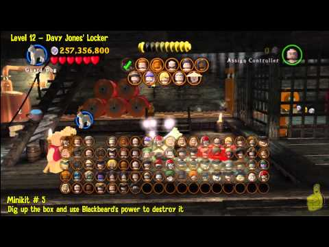 Lego Pirates of the Caribbean: Level 12 Davy Jones Locker – FREE PLAY(Minikits and Compass) – HTG
