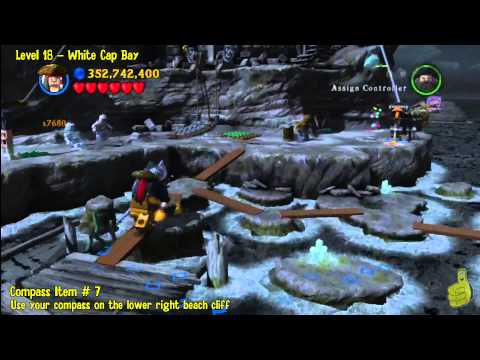 Lego Pirates of the Caribbean: Level 18 White Cap Bay – FREE PLAY (Minikits and Compass Items) – HTG