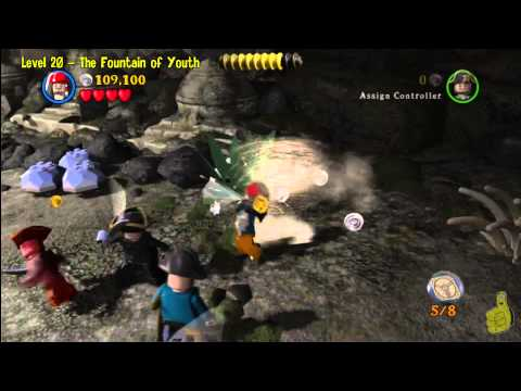 Lego Pirates of the Caribbean: Level 20 The Fountain of Youth – Story Walkthrough – HTG