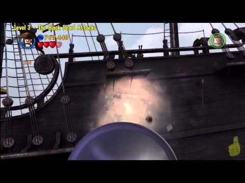 Lego Pirates of the Caribbean: Level 3 The Black Pearl Attacks – FREE PLAY (Minikits & Compass)- HTG