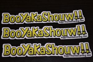 BooYaKaShouw 3 Pack Vinyl Stickers