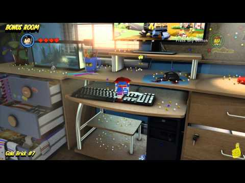 The Lego Movie Videogame: Bonus Room Gold Brick Locations (All 10 Bonus Room Gold Bricks) – HTG