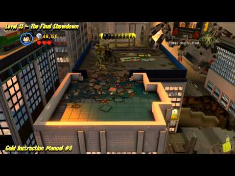 The Lego Movie Videogame: Level 15 The Final Showdown – FREE PLAY – (Pants & Gold Manuals) – HTG