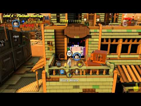 The Lego Movie Videogame: Level 4 Flatbush Rooftops – FREE PLAY – (Pants & Gold Manuals) – HTG