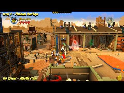 The Lego Movie Videogame: Level 4 Flatbush Rooftops – STORY Walkthrough – HTG