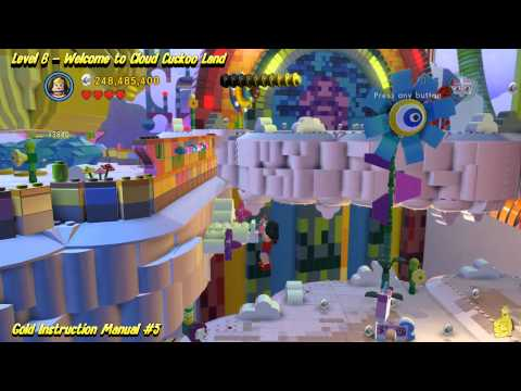 The Lego Movie Videogame: Level 6 Cloud Cuckoo Land – FREE PLAY – (Pants & Gold Manuals) – HTG