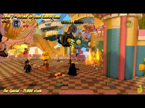 The Lego Movie Videogame: Level 7 Attack on Cloud Cuckoo Land –  STORY Walkthrough – HTG