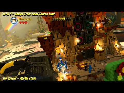 The Lego Movie Videogame: Level 8 Escape from Cloud Cuckoo Land – STORY Walkthrough – HTG