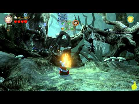 Lego The Hobbit: Level 10 Flies and Spiders – FREE PLAY (All Minikits, Treasures & Design) – HTG