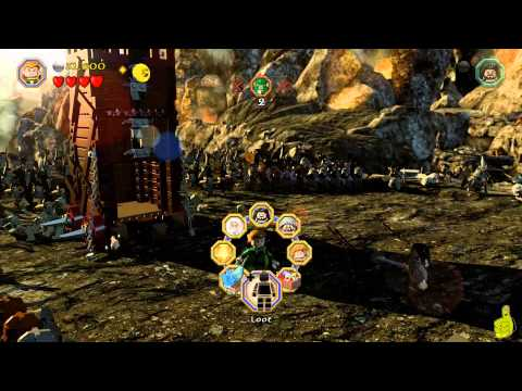 Lego The Hobbit: Level 3 –  Azog the Defiler FREE PLAY (All Minikits, Treasures & Design) – HTG