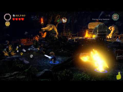 Lego The Hobbit: Level 4 Roast Mutton FREE PLAY (All Minikits, Treasures & Design) – HTG