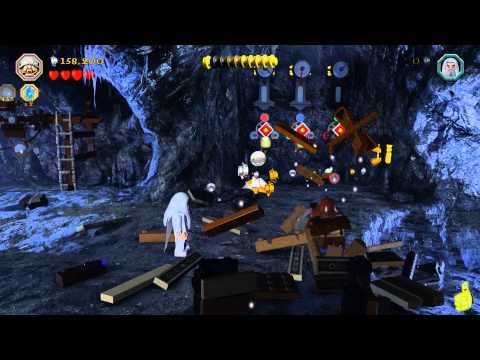 Lego The Hobbit: Lvl 6 Over Hill and Under Hill – FREE PLAY (All Minikits, Treasures & Design) – HTG