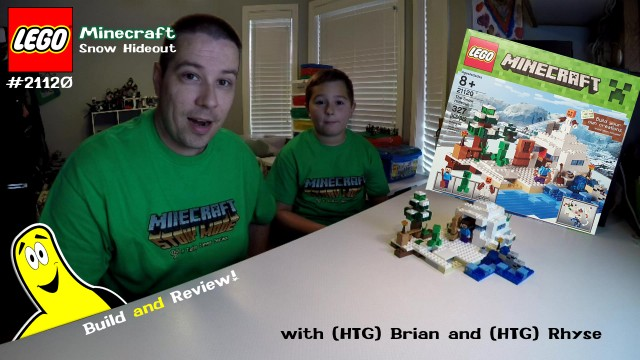 LEGO Speed Build: Minecraft The Snow Hideout #21120 with Brian and Rhyse – HTG