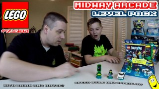 Lego Dimensions: #71235 Midway Arcade LEVEL Pack Unboxing/SpeedBuild/Gameplay – HTG