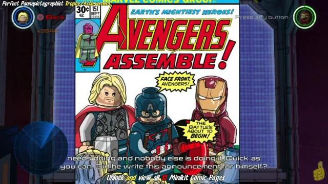 """Lego Marvel Avengers: """"Perfect Pannapictagraphist"""" Trophy/Achievement – HTG"""