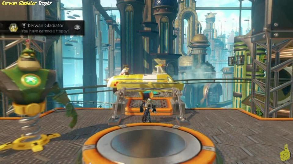 "Ratchet & Clank: ""Kerwan Gladiator"" Trophy (Fitness Course on Kerwan) – HTG"