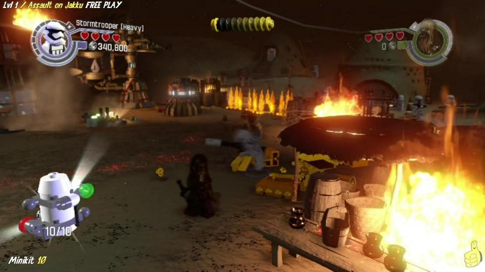 Lego Star Wars The Force Awakens: 1 / Assault on Jakku FREE PLAY (All Minikits & Red Brick) – HTG