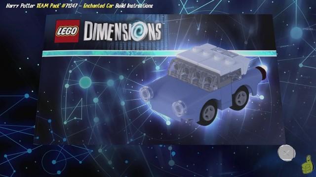 Lego Dimensions: Enchanted Car / Build Instructions (Harry Potter TEAM Pack #71247) – HTG