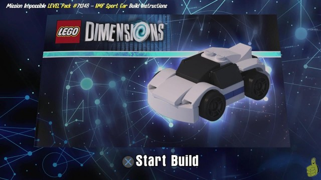 Lego Dimensions: IMF Sport Car / Build Instructions (Mission Impossible LEVEL Pack #71248) – HTG