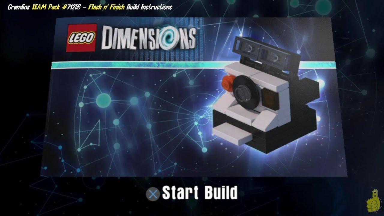 Lego Dimensions: Flash 'n' Finish / Build Instructions (Gremlins TEAM Pack #71256) – HTG
