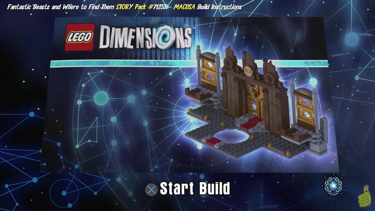 Lego Dimensions: MACUSA Portal Base / Build Instructions (Fantastic Beasts STORY Pack #71253) – HTG