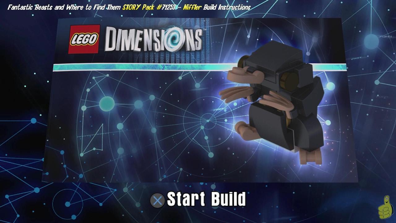 Lego Dimensions: Niffler / Build Instructions (Fantastic Beasts STORY Pack #71253) – HTG