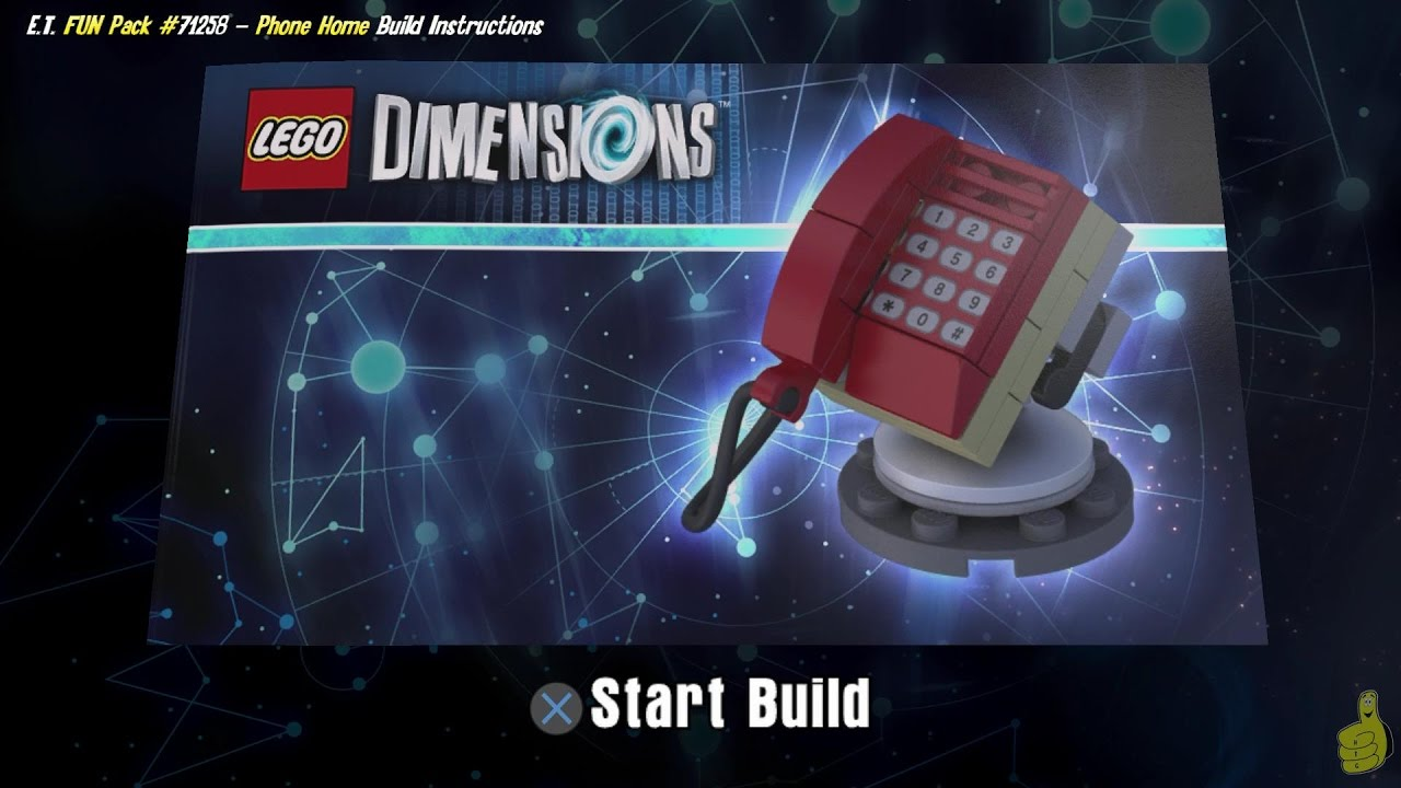 Lego Dimensions: Phone Home / Build Instructions (E.T. FUN Pack #71258) – HTG