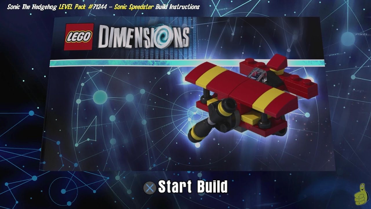 Lego Dimensions: Tornado / Build Instructions (Sonic the Hedgehog LEVEL Pack #71244) – HTG