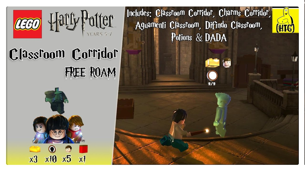 Lego Harry Potter 5-7: Classroom Corridor FREE ROAM (All Collectibles) – HTG