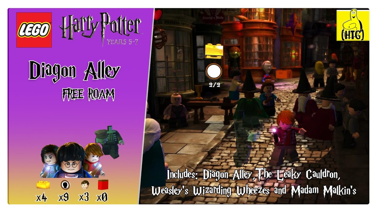 Lego Harry Potter 5-7: Diagon Alley FREE ROAM (All Collectibles) – HTG