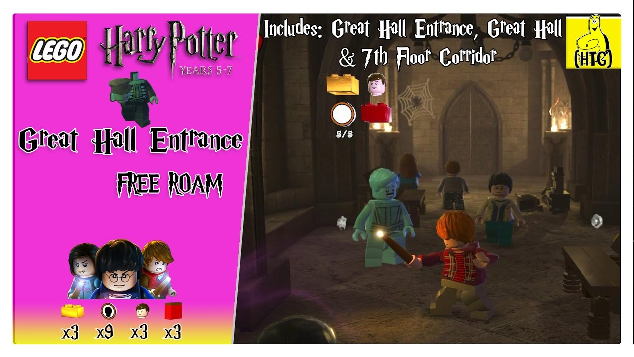 Lego Harry Potter 5-7: Great Hall Entrance FREE ROAM (All Collectibles) – HTG