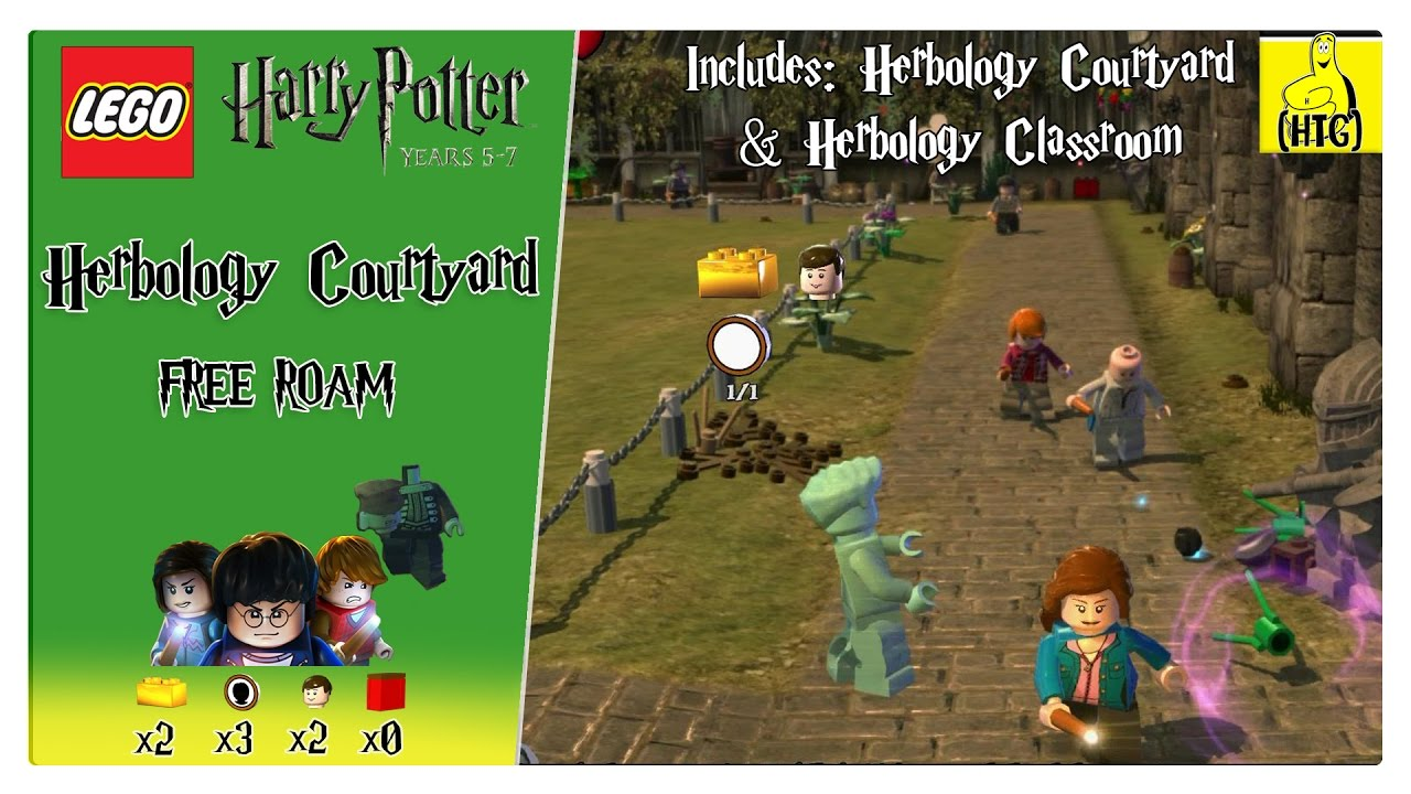 Lego Harry Potter 5-7: Herbology Courtyard FREE ROAM (All Collectibles) – HTG