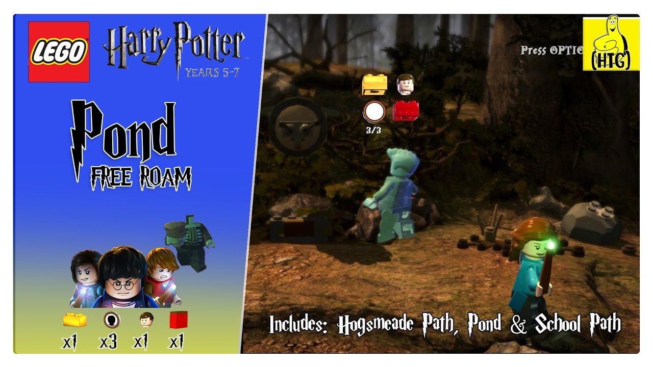 Lego Harry Potter 5-7: Pond FREE ROAM (All Collectibles) – HTG