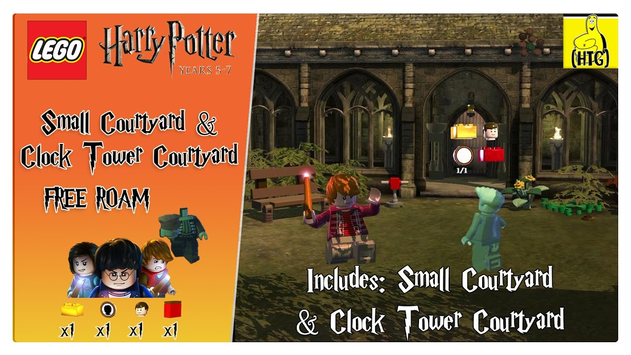 Lego Harry Potter 5-7: Small Courtyard FREE ROAM (All Collectibles) – HTG