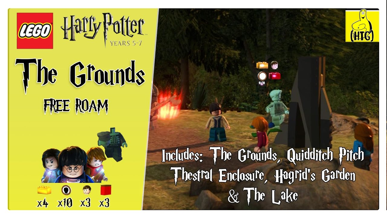 Lego Harry Potter 5-7: The Grounds FREE ROAM (All Collectibles) – HTG