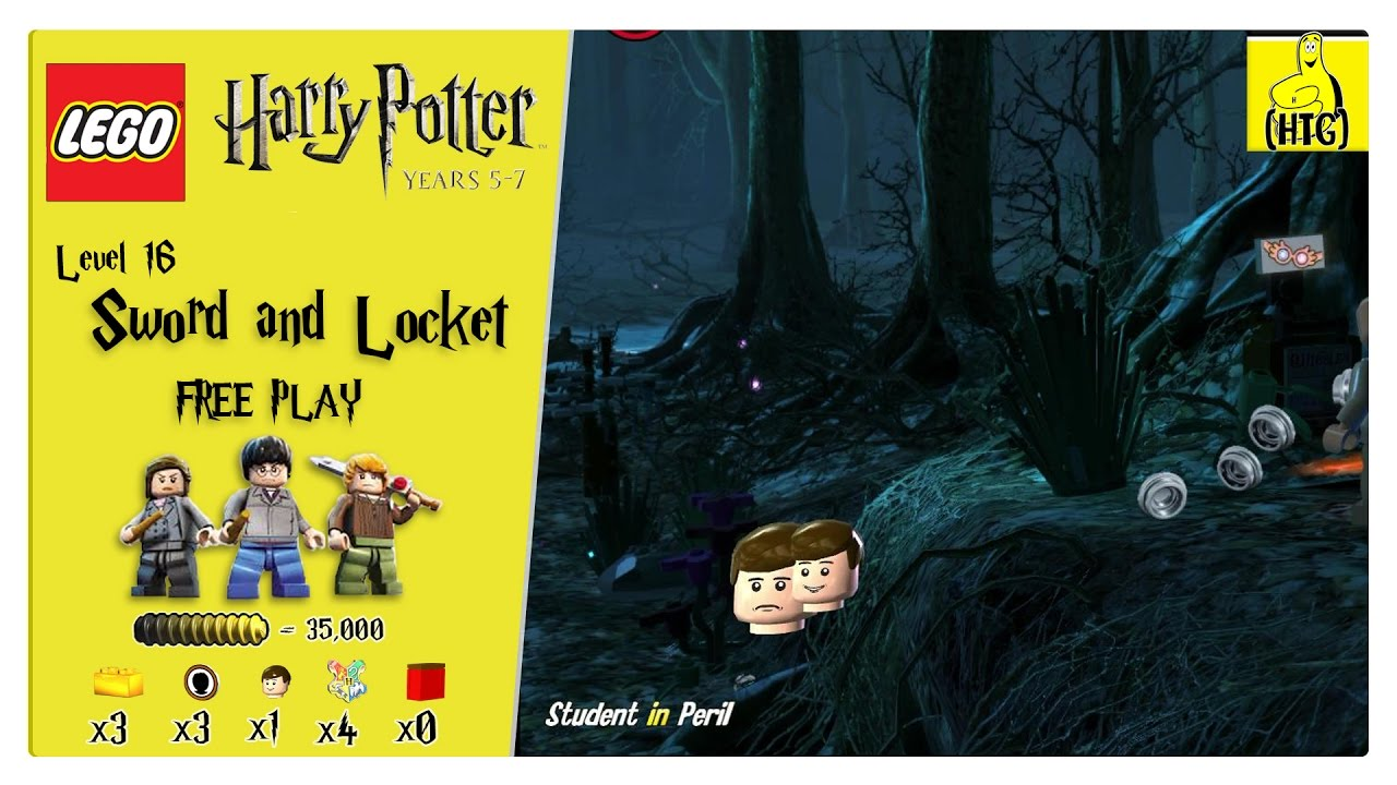 Lego Harry Potter Years 5-7: Lvl 16 / Sword and Locket FREE PLAY (All Collectibles) – HTG