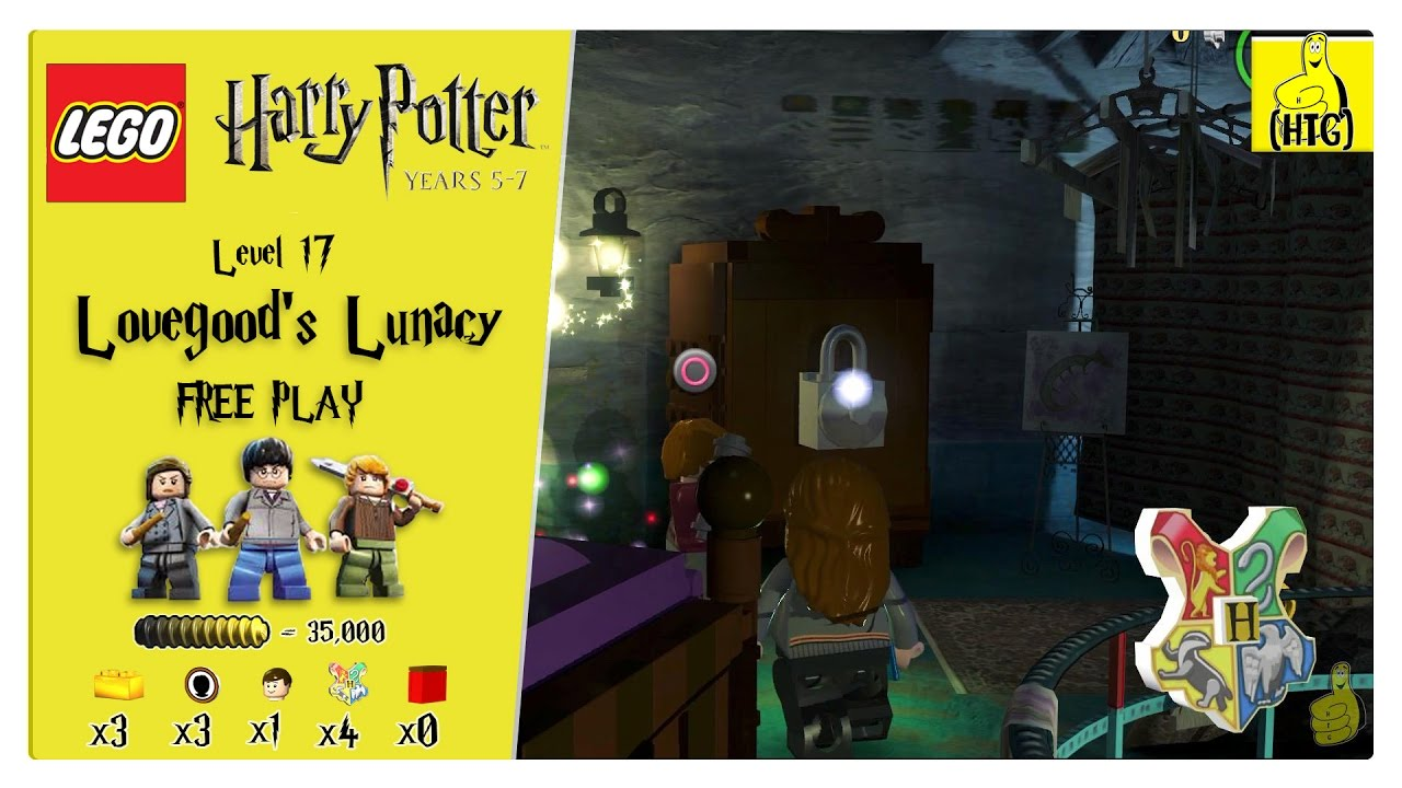 Lego Harry Potter Years 5-7: Lvl 17 / Lovegood's Lunacy FREE PLAY (All Collectibles) – HTG
