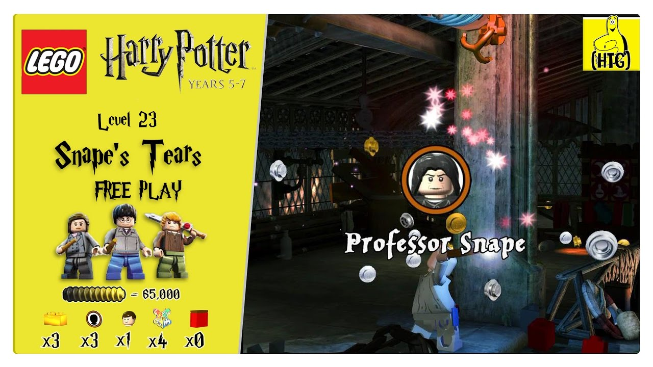 Lego Harry Potter Years 5-7: Lvl 23 / Snape's Tears FREE PLAY (All Collectibles) – HTG