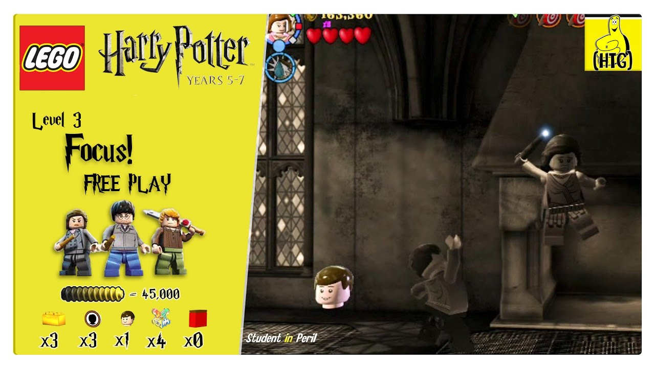 Lego Harry Potter Years 5-7: Lvl 3 / Focus! FREE PLAY (All Collectibles) – HTG