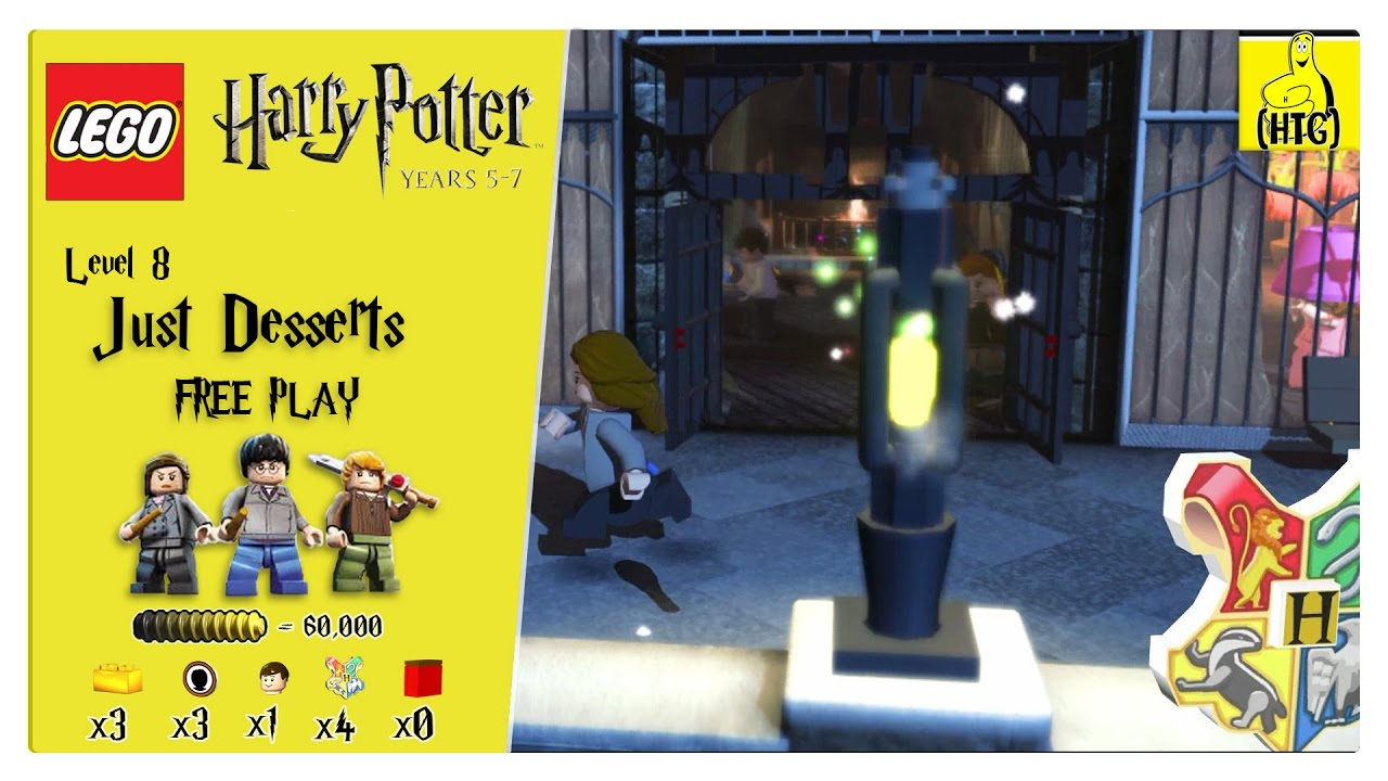 Lego Harry Potter Years 5-7: Lvl 8 / Just Desserts FREE PLAY (All Collectibles) – HTG