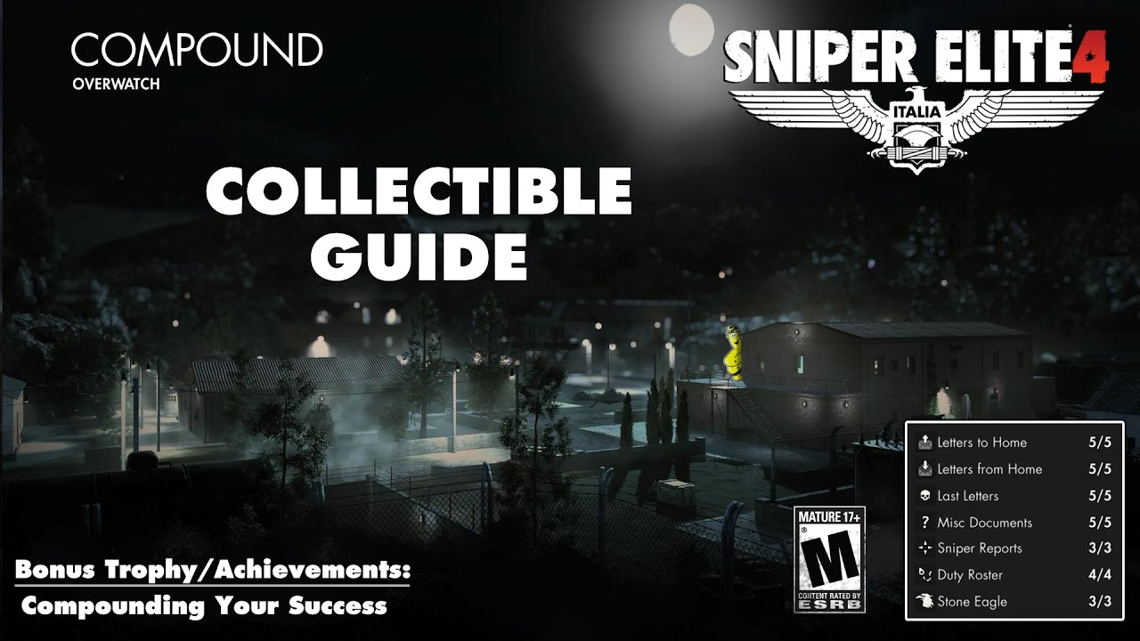 Sniper Elite 4: Level 9 / Compound (Collectibles Guide) – HTG
