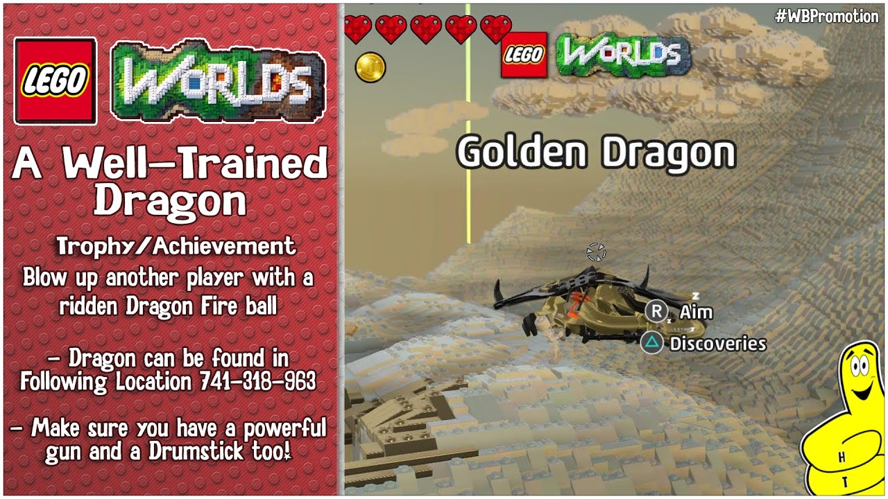 "Lego Worlds: ""A Well-Trained Dragon"" Trophy/Achievement – HTG"