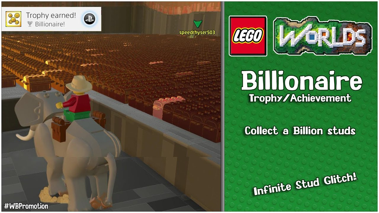 "Lego Worlds: ""Billionaire"" Trophy/Achievement (Infinite Stud Glitch) – HTG"