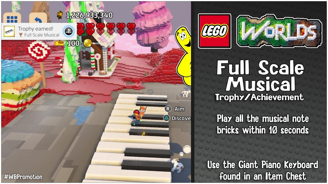 "Lego Worlds: ""Full Scale Musical"" Trophy/Achievement – HTG"
