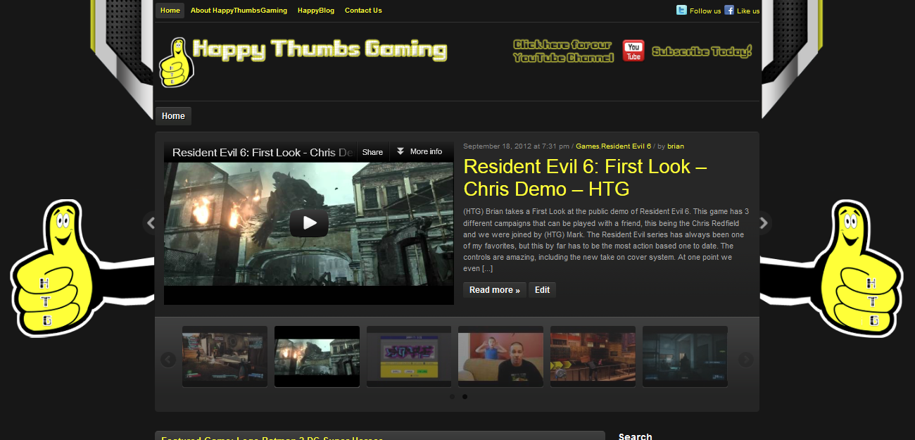 Welcome to the new HappyThumbsGaming.com!
